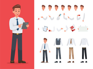 Businessman character vector design no2