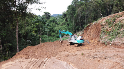 Deforestation of Borneo rainforest