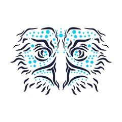 Ornamental tattoo bird head. Abstract hand drawn style