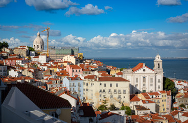 View of the Alfama District, Lisboa, Portugal