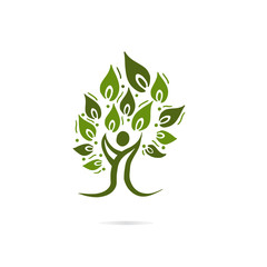 People Tree Vector Logo Template