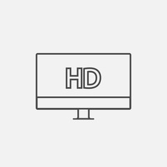High definition TV vector icon