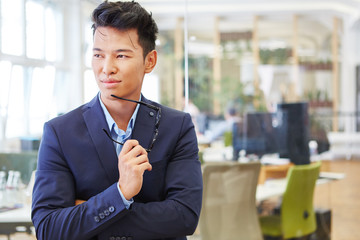 Man as chief exective in start-up