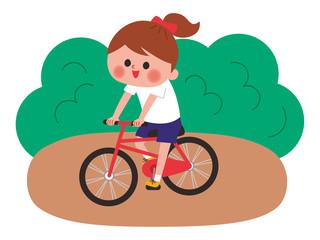 サイクリング 女の子