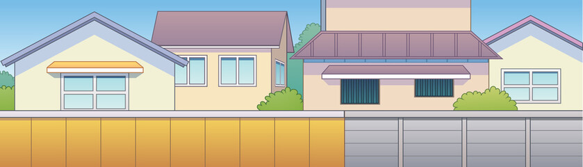 Japanese town home background