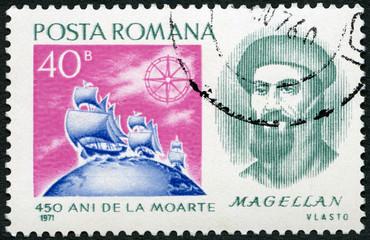 ROMANIA - 1971: shows Ferdinand Magellan (1480-1521), Portuguese explorer