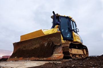 Bulldozer at construction site