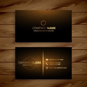 luxury premium golden business card template