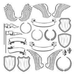 Heraldic element for medieval badge, crest design