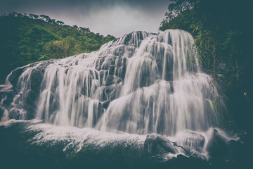 Bakers falls. Horton plains national park. Sri Lanka.