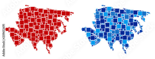 Dot Europe And Asia Map Versions Abstract Geographic Map