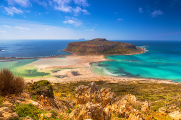 Beautiful landscape of Balos beach on Crete, Greece