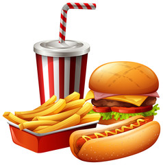 Meal of fast food
