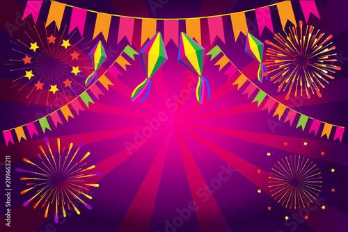 festive background wallpaper for summer festival festa junina