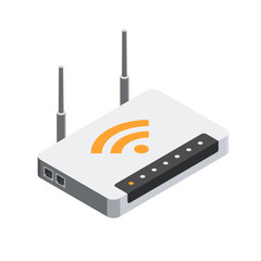 Network Router 3D isometric