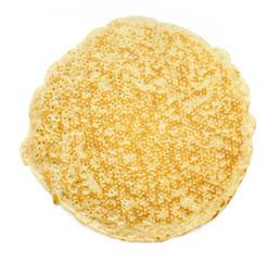 One pancake isolated on white background