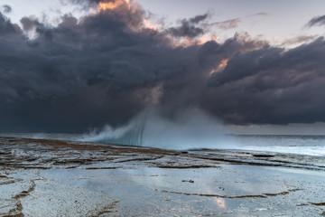 Moody Overcast Sunrise Seascape