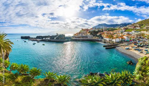 Wall mural Camara de Lobos, harbor and fishing village, Madeira island, Portugal