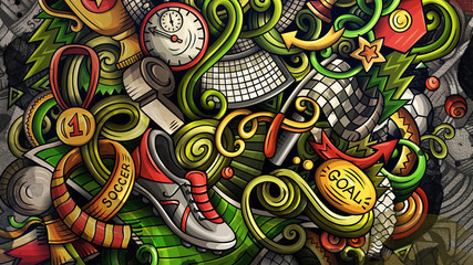 Doodles Soccer graphics illustration