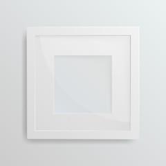 White frame on white background, vector illustration