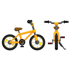 Bicycle with yellow frame