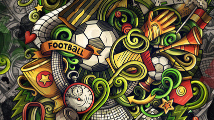 Doodles Soccer graphics illustration