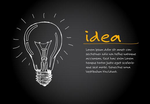 Idea - minimalist concept ilustration