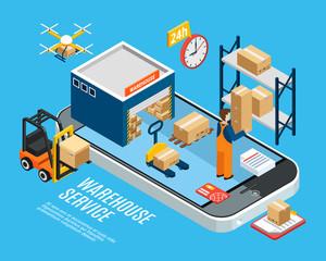 Logistics Isometric Concept