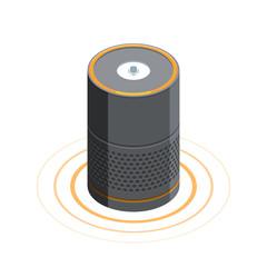Smart speaker Voice assistant 3D isometric
