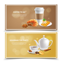 Breakfast Realistic Banners