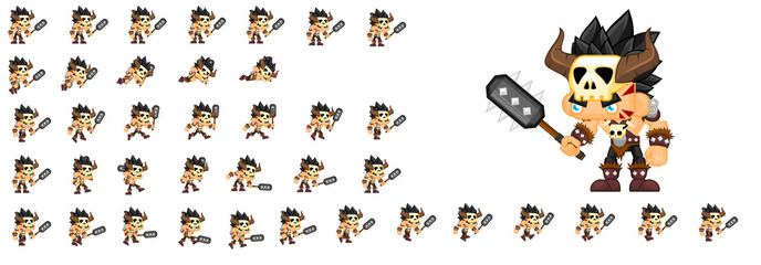Barbarian Game Character