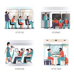 People Transport Flat Concept