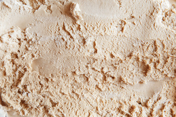 Close-up background of ice cream.