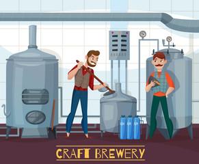 Craft Brewery Cartoon Illustration