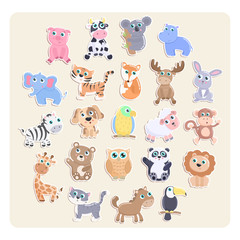 Cute animal stickers.