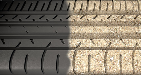 Tyre Tread Morphing To Ground