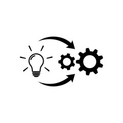 Implementation icon. Creative cycle symbol