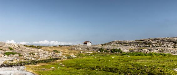 Einsame Hütte in Skandianvien