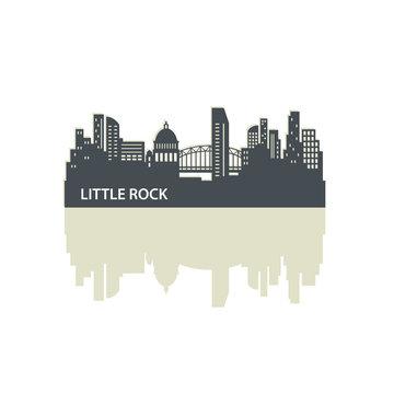 Little Rock City Skyline Logo Template