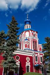 Beautiful Church in European town center. The Russian Orthodox Church