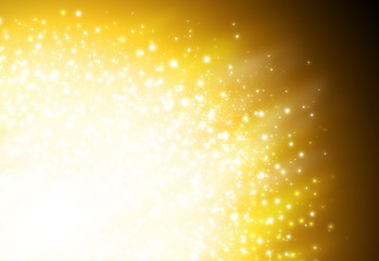 Dark Gold glitter sparkles defocused rays lights bokeh radial abstract background/texture.