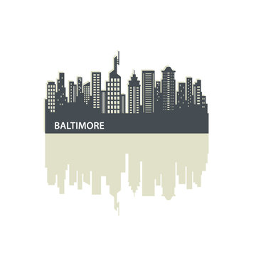 Baltimore City Skyline Logo Template
