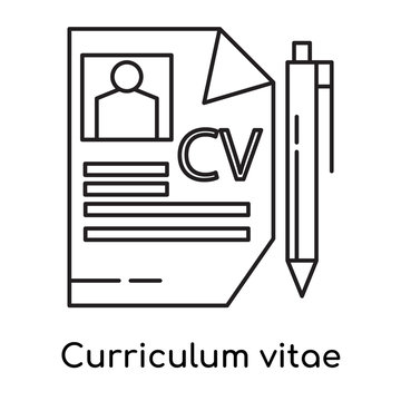 Curriculum vitae icon vector sign and symbol isolated on white background, Curriculum vitae logo concept