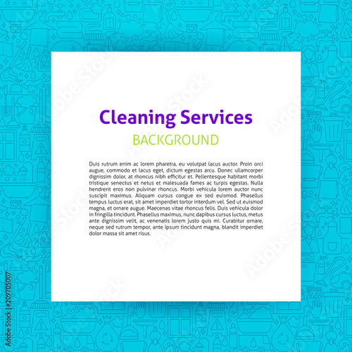 cleaning services paper template fotolia com の ストック画像と