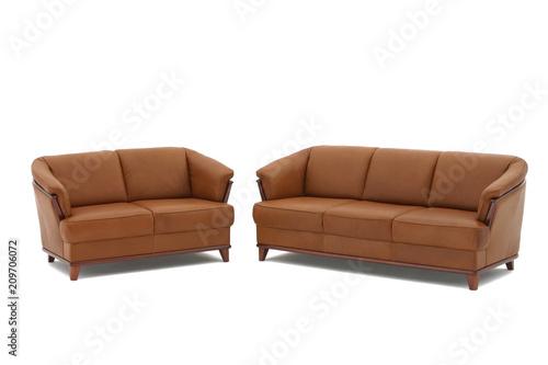 Brown Genuine Leather Sofas