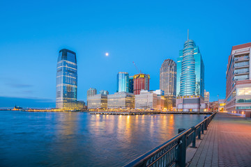 Fototapete - View from Hudson River Waterfront in Jersey City