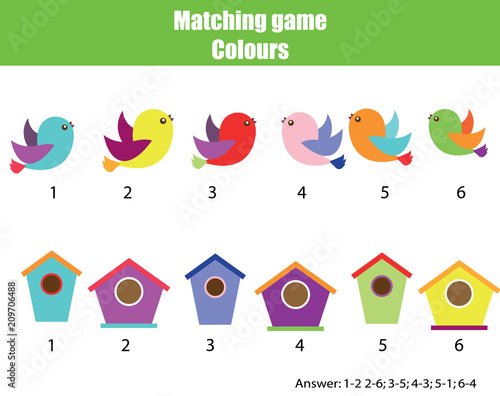 photograph relating to Animal Matching Game Printable called Enlightening kids sport. Matching video game worksheet for children