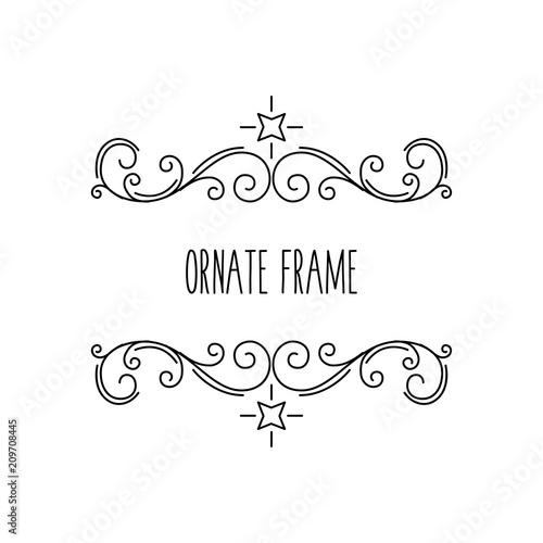 Ornate frames, calligraphic floral elements. Swirls, Curls, Scrolls ...