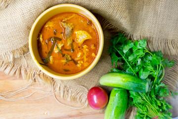Panaeng curry with pork (Panang pork)