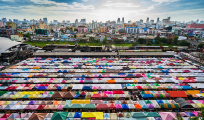 Colorful night market in Thailand